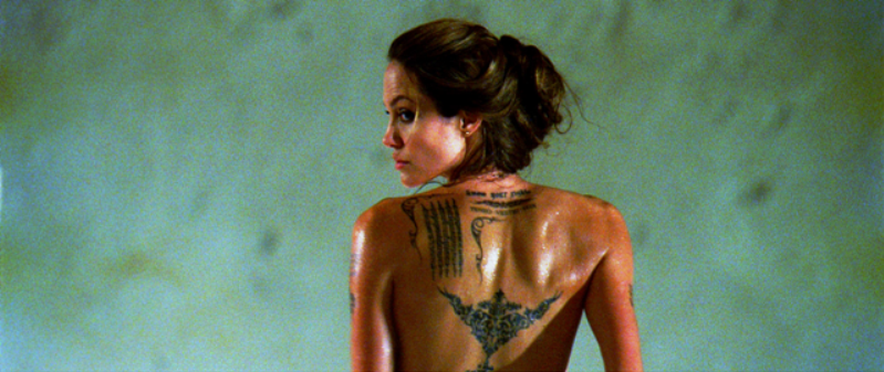 Come and get me: Angelina Jolie as Fox, from a scene from the